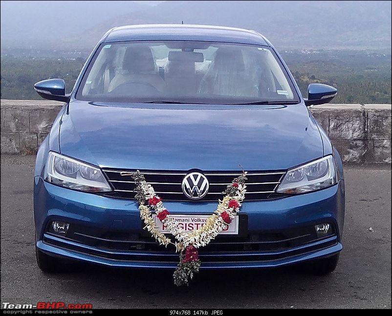 Silk Blue VW Jetta 1.4L TSI - My BlueJay joins duty-front-view.jpg