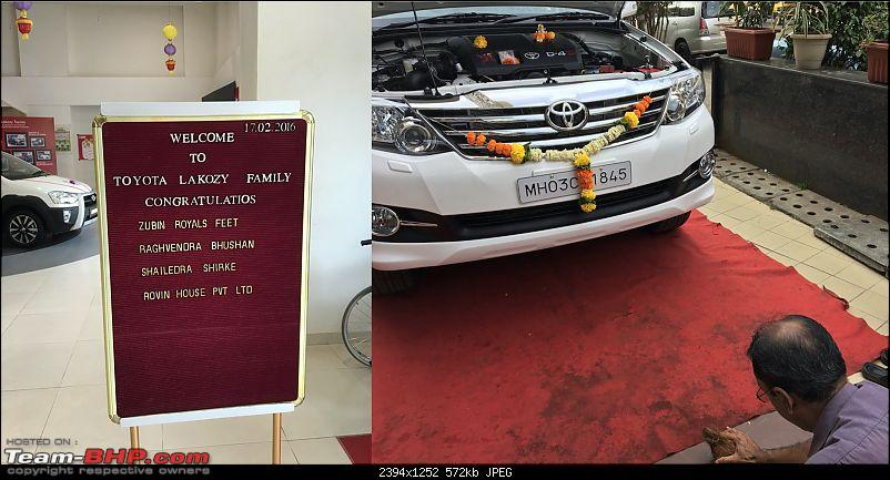 One year with the Toyota Fortuner 4x4 AT : My Furteela Ghonga-delivery.jpg