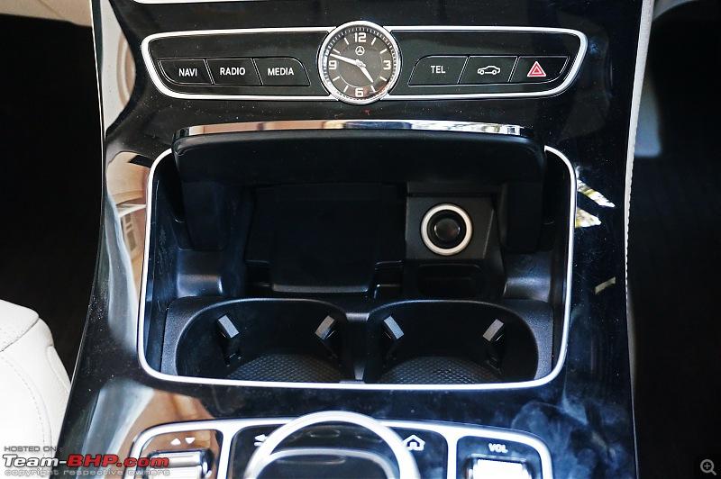 Driven: 2017 Mercedes E-Class-cupholders.jpg