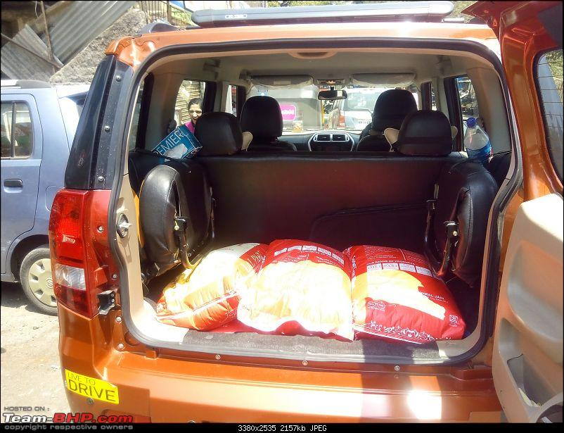 Orange Tank to conquer the road - Mahindra TUV3OO owner's perspective-tuv-boot-loaded.jpg