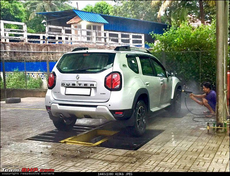 Ownership review of a Renault Duster AMT: My humble monster-car_wash.jpg