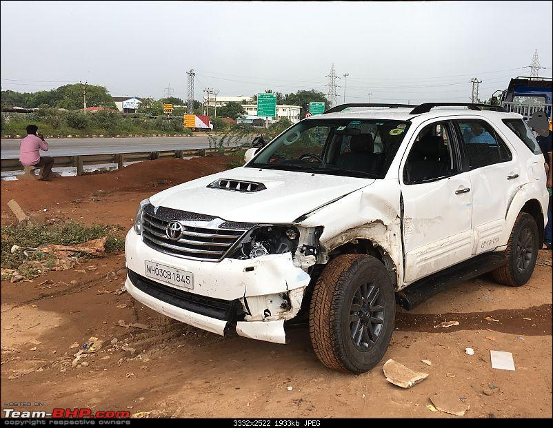 One year with the Toyota Fortuner 4x4 AT : My Furteela Ghonga-damage-2.jpeg