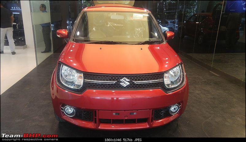 Uptown Red Racer - The Maruti Ignis Delta 1.2L Automatic comes home-20170603_124426.jpg