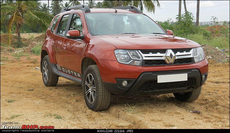 2017 Renault Duster Petrol RXL - Initial ownership report @ 1,233 km-frontright.jpg