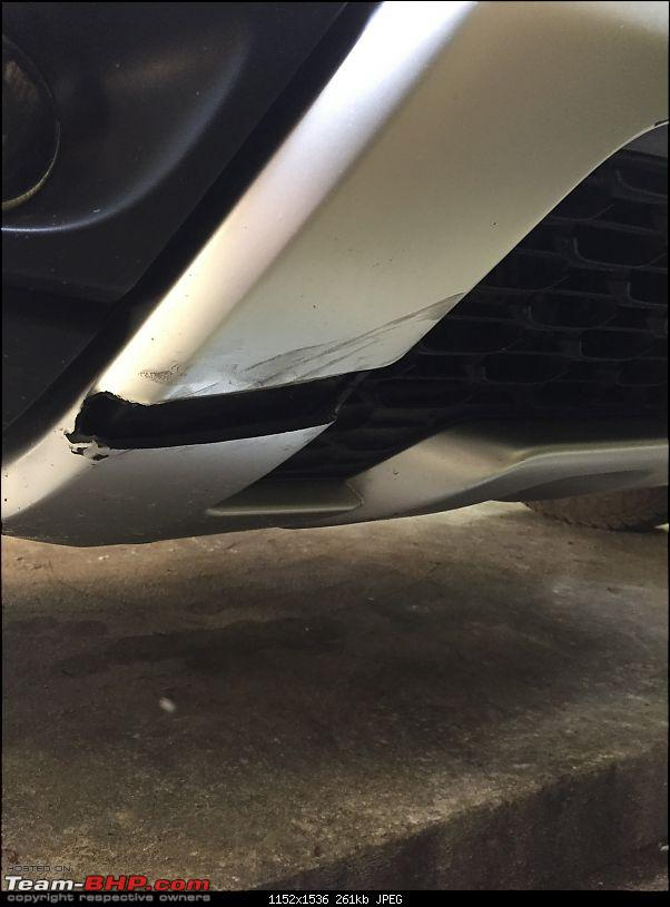 Ownership review of a Renault Duster AMT: 20,000 km update-closeup_dent.jpg