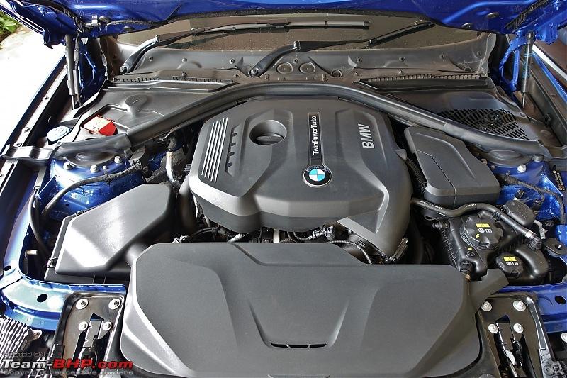 A GT joins a GT - Estoril Blue BMW 330i GT M-Sport comes home-engine-bay-close.jpg
