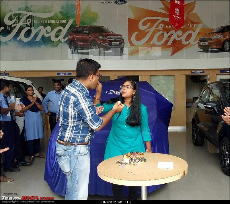 Ford EcoSport Trend Plus AT (Facelift) - Ownership experience of my ShadowFax-cake-cutting.jpg