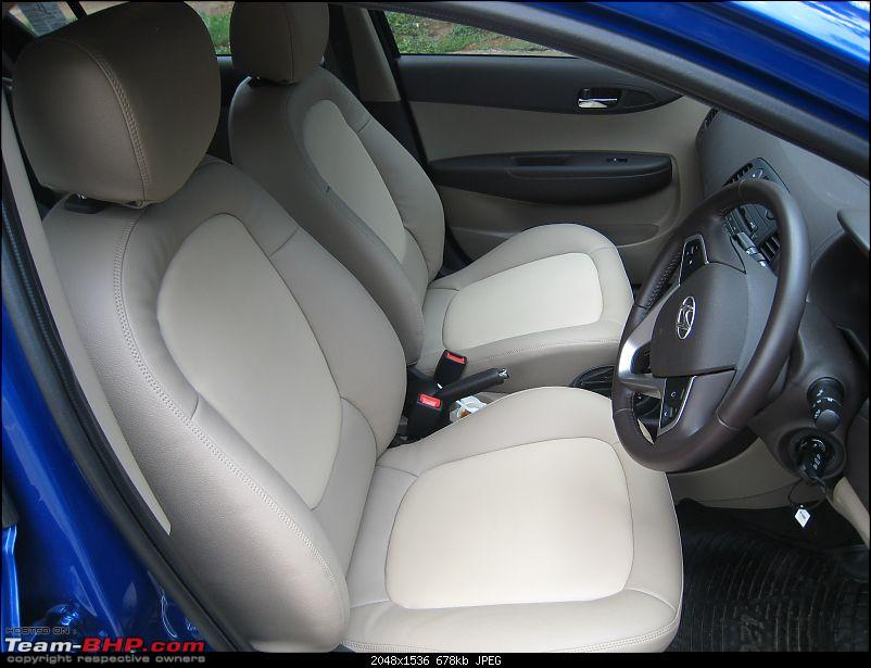 Hyundai i20 1.4L Petrol AT Initial Ownership Report-i20_front_seats2.jpg