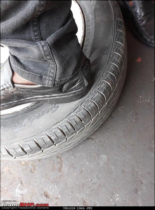 Why did I buy a 12 Year old Toyota Corolla - My experience-old-tyres-1.jpg