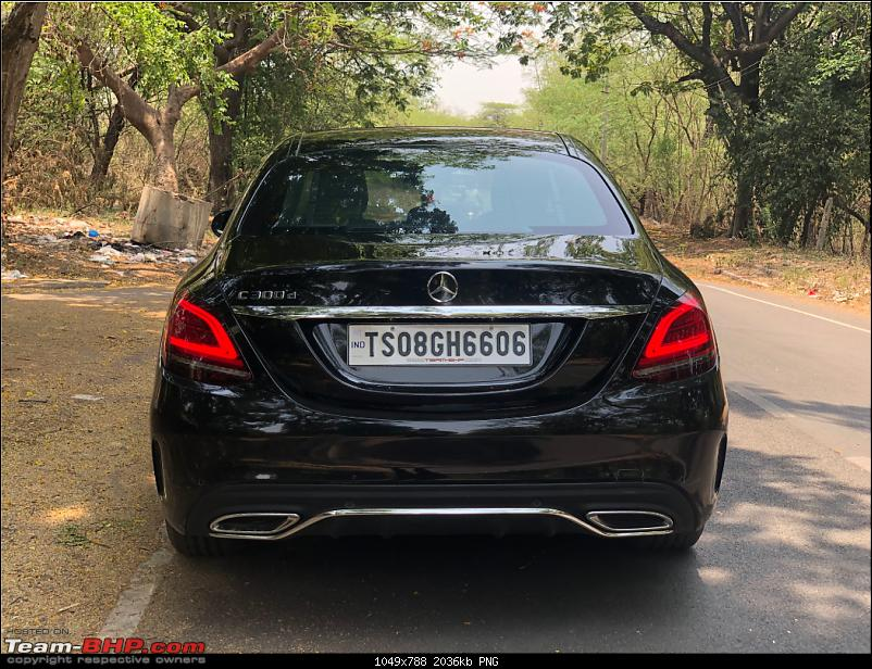 My Rooh: Mercedes-Benz C300d AMG Line!-rear.png