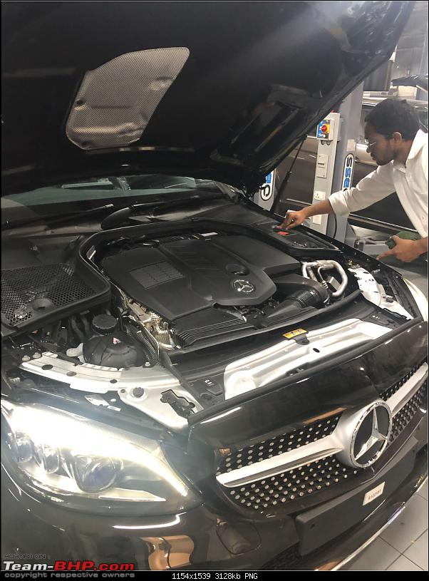 My Rooh: Mercedes-Benz C300d AMG Line!-engine.png