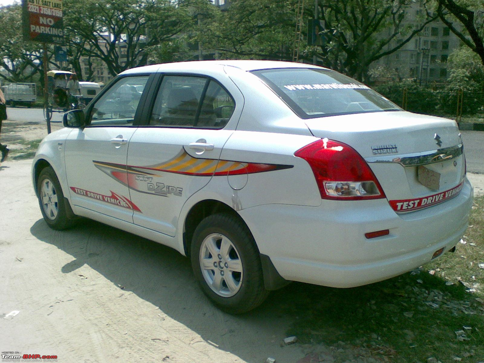 Car sticker design for swift - Swift Dzire Short Test Drive And Some Pictures 28032008003 Jpg