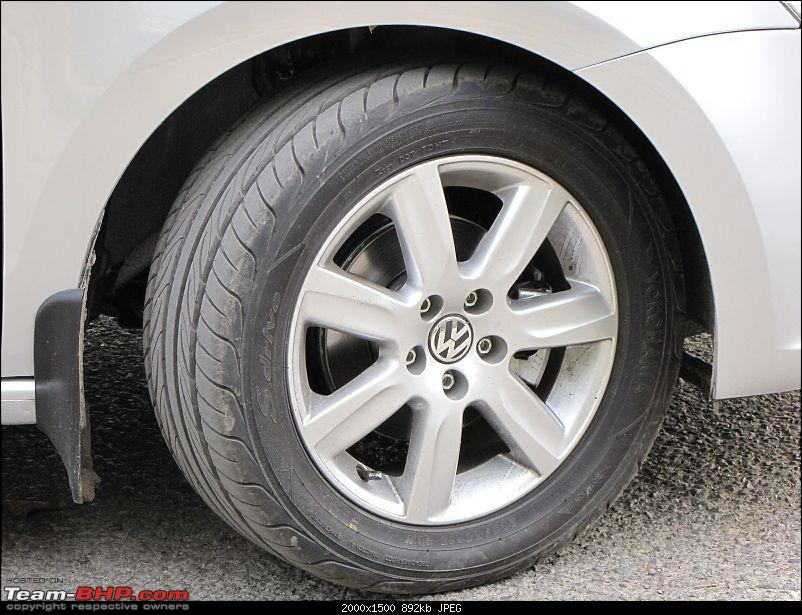 My German rockstar Gaadi, Silver Volkswagen Vento - Ownership Experiance-front-tyre.jpg