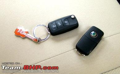 Name:  DSC017081.JPG Views: 16318 Size:  42.5 KB<br /> <br /> There are a few features that stand apart in central locking.<br /> - One click on the key fob opens only the driver's door.  Double click to open all doors.  Anti-hijack feature to prevent unwanted entry into the car as you unlock.<br /> - Boot alone can also be opened with the remote.  Doors are not opened. Car locks automatically as you close the boot - chances of locking the key inside the boot<br /> - Car locks itself once you reach 20 kmph speed.  It does not unlock when ignition is turned off, say at traffic signals.  Unlocks only when the key is withdrawn.  There is also  lock / unlock buttons in the central console for opening the boot and doors - useful for security checks.<br /> - Car locks itself after 30 sec after unlocking using remote in case no door is opened .<br /> - The doors can be opened from inside even if the central locking is on.  When any door is opened all doors get unlocked. Only the rear doors are provided with child lock, which prevents opening door from inside.  Child lock can be activated / deactivated only using the ignition key.<br /> - A blinking red LED on the driver's door indicates that the car is locked and armed. One click on remote locks and arms the car, two clicks only locks.  I don't get the point since no alarm is provided in Indian version. This is sorely missed.<img src=
