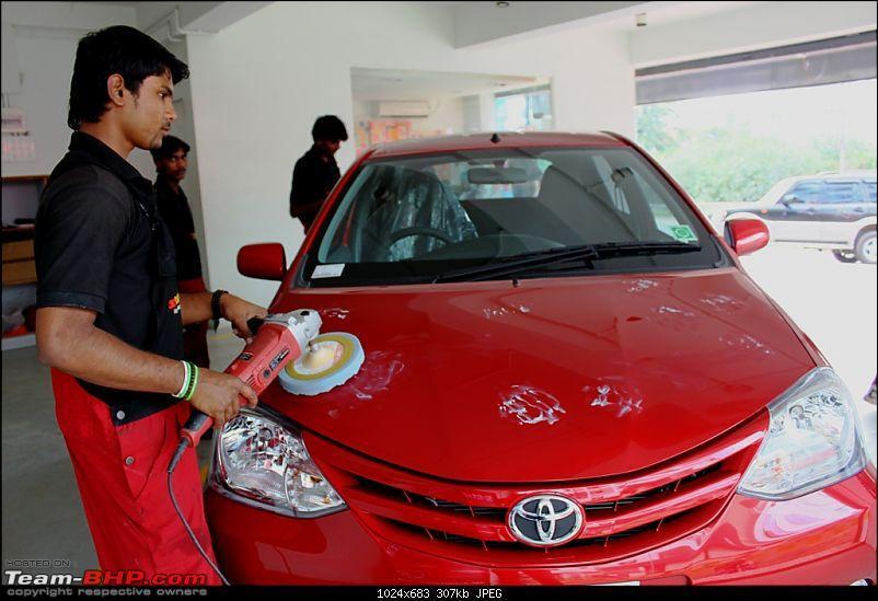 Living Tmrrw 2Day - Toyota Etios Liva G - SP Vermilion Red - 10,000 kms-paint-sealant.jpg