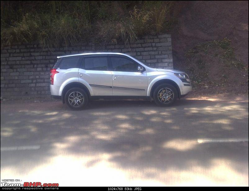 Mahindra XUV 500 - Moondust Silver - Loaded with chrome - first in Delhi-side-profile.jpg