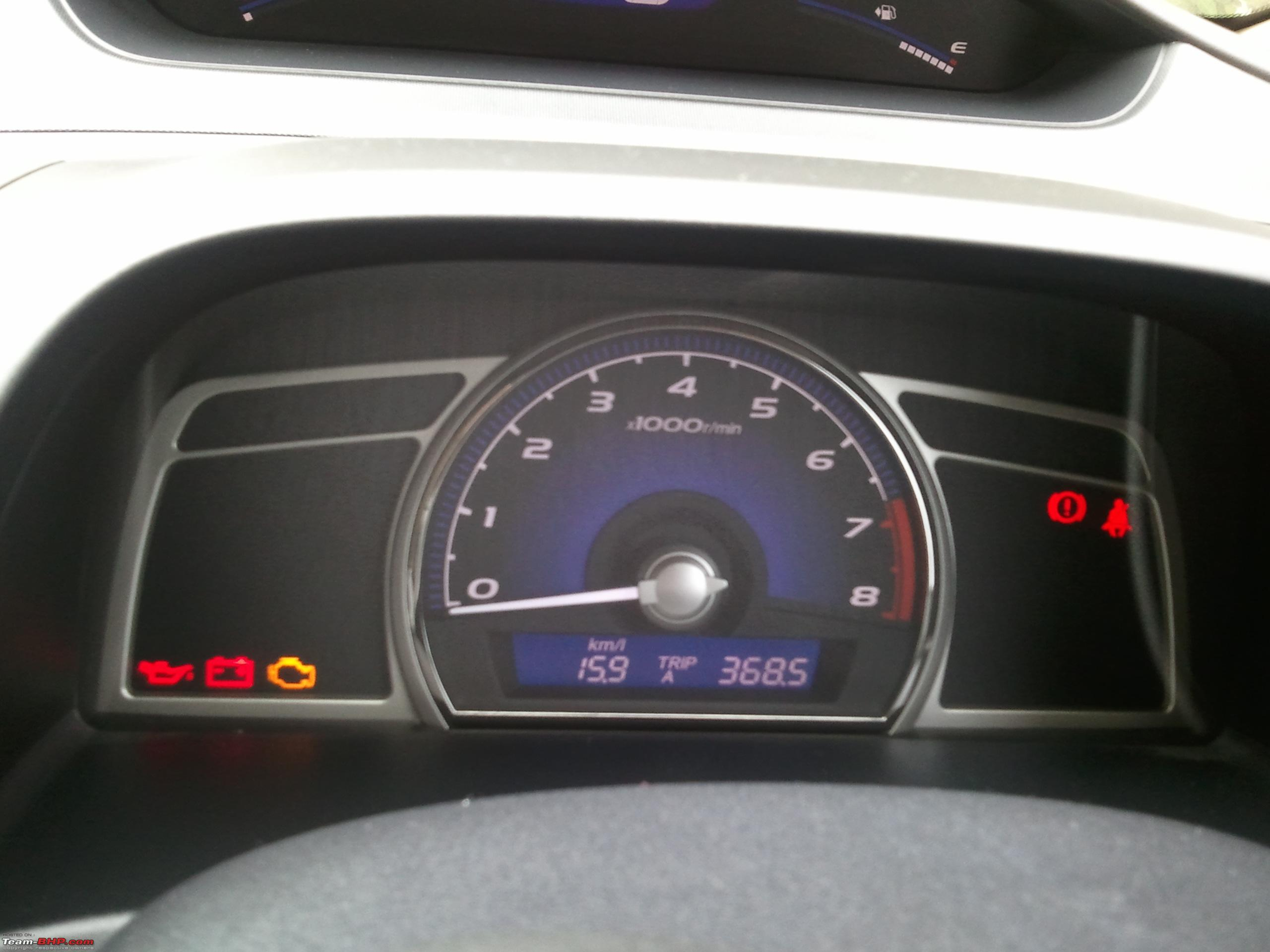 Average/Instant Fuel Economy Indicator on LXS 8th civic - 8th ...
