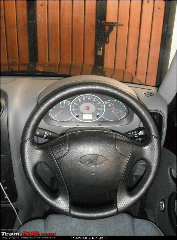 Team-BHP's first Mahindra Scorpio LX 4WD-steering.jpg