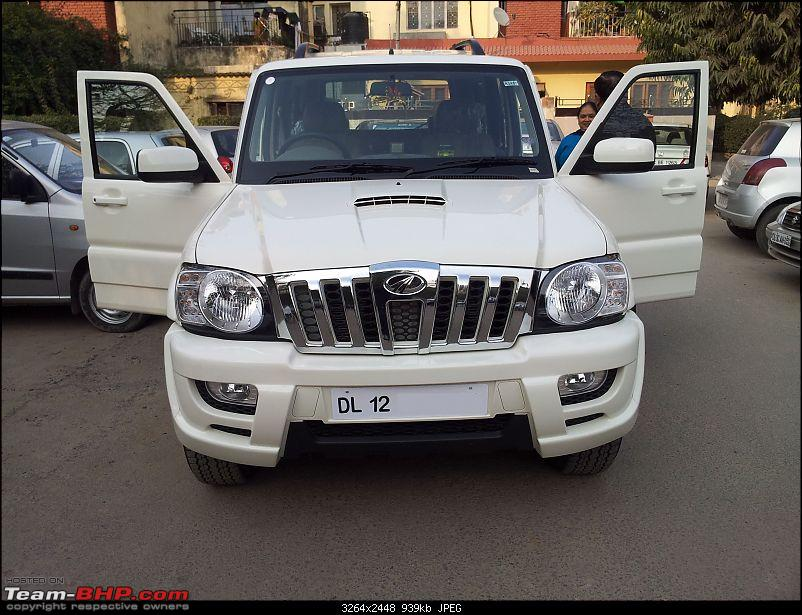 White Scorpio SLE 7 seater bought home! *UPDATE: 1000 km completed!-front-1_v2.jpg