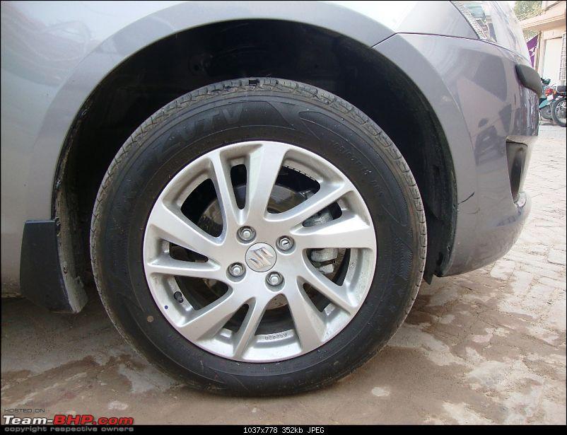 My new set of 5 wheels: Maruti Swift ZDI - 20,000 kms update-tyre.jpg