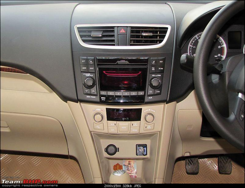 Maruti Dzire Zdi Initial Ownership review-music-sys-acc.jpg