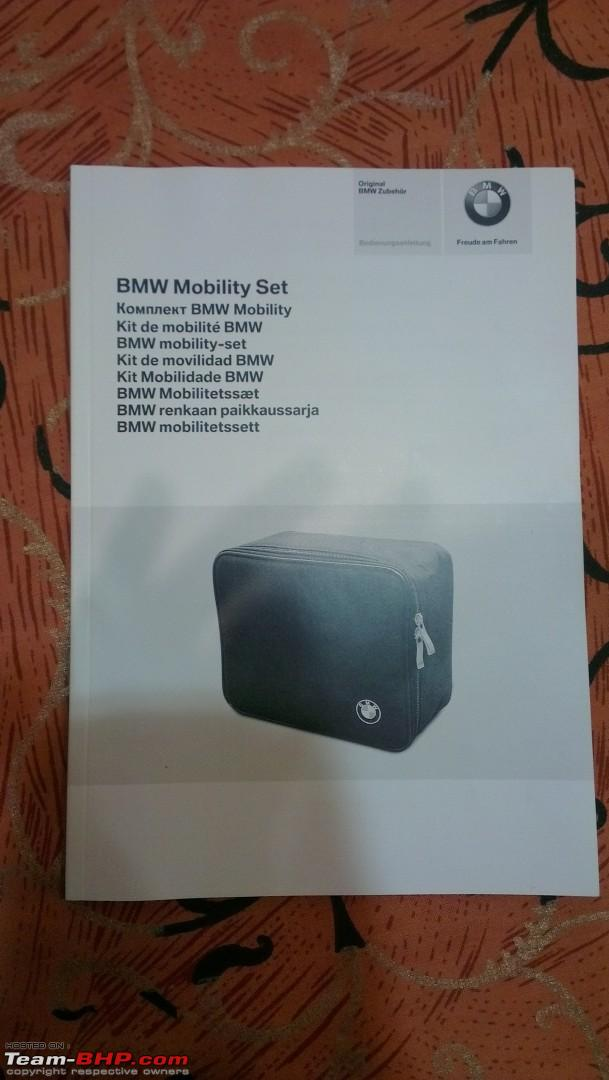 bmw mobility kit instructions