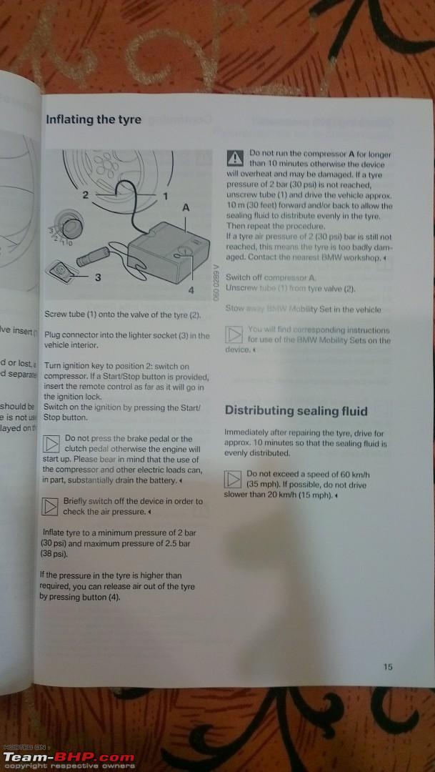 bmw mobility kit instructions