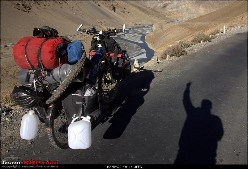 "Self-Drive Exploratory Expedition->Zanskar+Unknown Kashmir-> ""off-season October 2011-loaded-cycle.jpg"