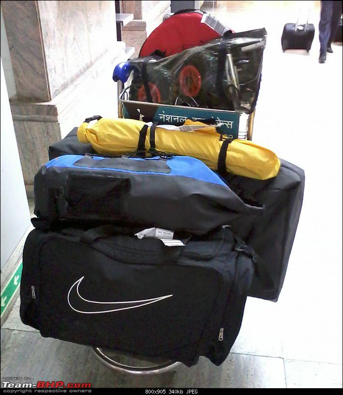 Going solo at 5 kmph - Mumbai to Goa in an inflatable kayak!-bags-airport.jpg