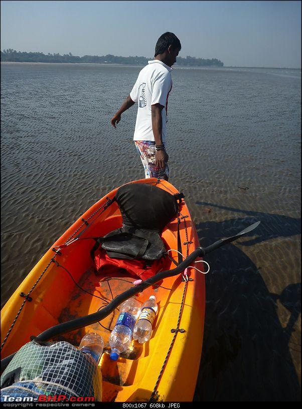 Going solo at 5 kmph - Mumbai to Goa in an inflatable kayak!-venturakayakdrag.jpg