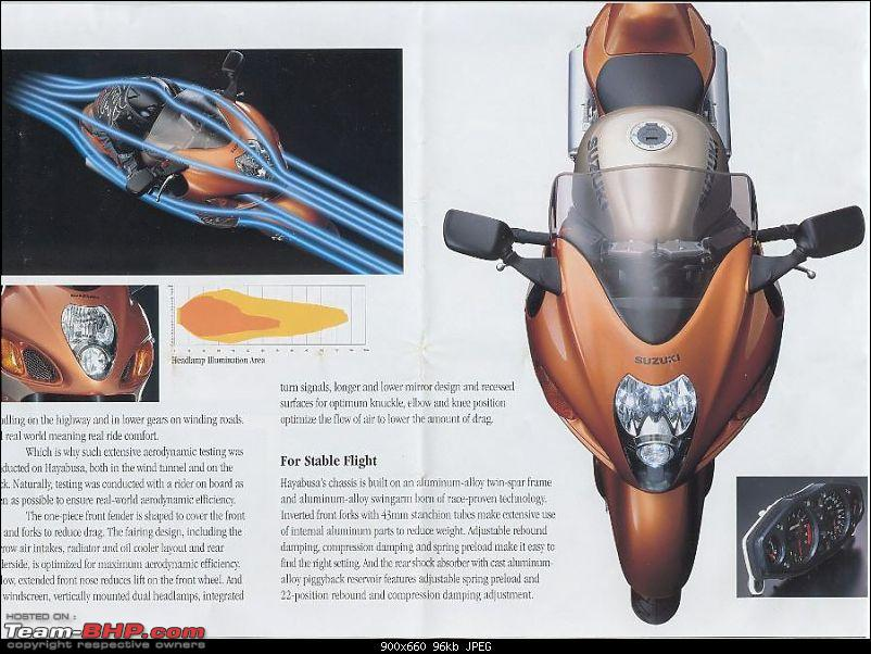 Bangalore -&gt; Hyderabad on a Suzuki Hayabusa!-page3.jpg <br /> 2008 I was at the Auto Show, first time I laid my eyes on Hayabusa with a Candy Indy Blue / Pearl Nebular Black paint scheme. My wife had to remind that I was drooling in public<br /> <br /> Then I got a glimpse of a green turbo busa from shamrok racing and From this time on the Gen2 Hayabusa became my top priority, finally I mustered up the courage and the cash to buy myself a well worshiped Hayabusa. <br /> <br /> <a href=