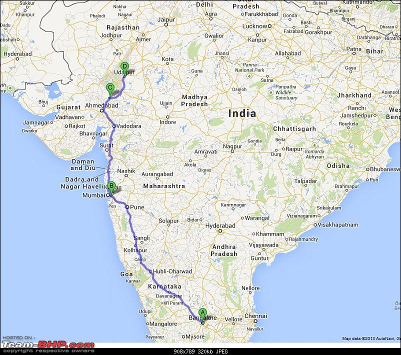 A glimpse of Paradise (Leh): 7300 kms, 8 States in a Linea-journey-leg-1-map.jpg