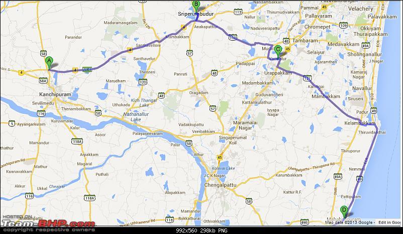 Mahabalipuram and Pondicherry : A Recall-route-1.png