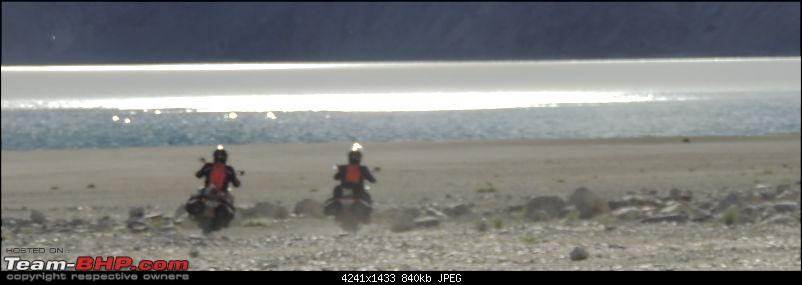 A Biker's Anthem: Ladakh-reflected-lake-bikes.jpg