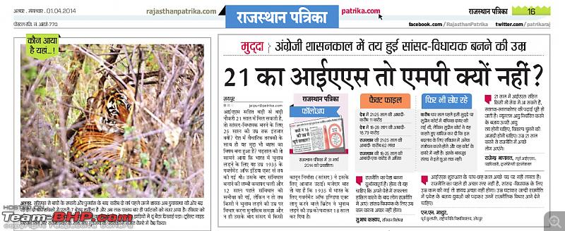 Gurgaon - Sariska - Gurgaon - Phew...Finally sighted one of the Tiger Cubs of ST2-raj_patrika.png