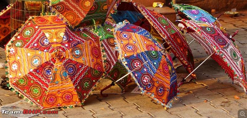 Hawk-On-Fours® (H-4®) Roadtrip: Of Forests (Sariska) & History (Siliserh, Deeg, Agra)-umbrellas.jpg