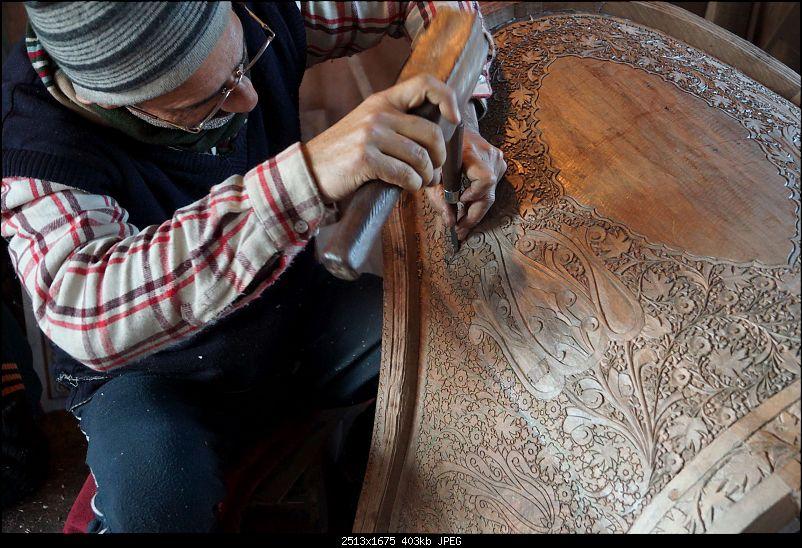 Kashmir in January: Srinagar (sans snow after floods), Gulmarg, Yousmarg & Pahalgam-woodcarving-4k400.jpg