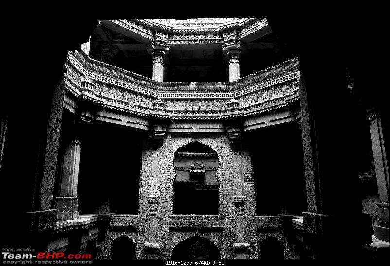 Kutch Expedition with a Mahindra Logan-bw-step-well.jpg