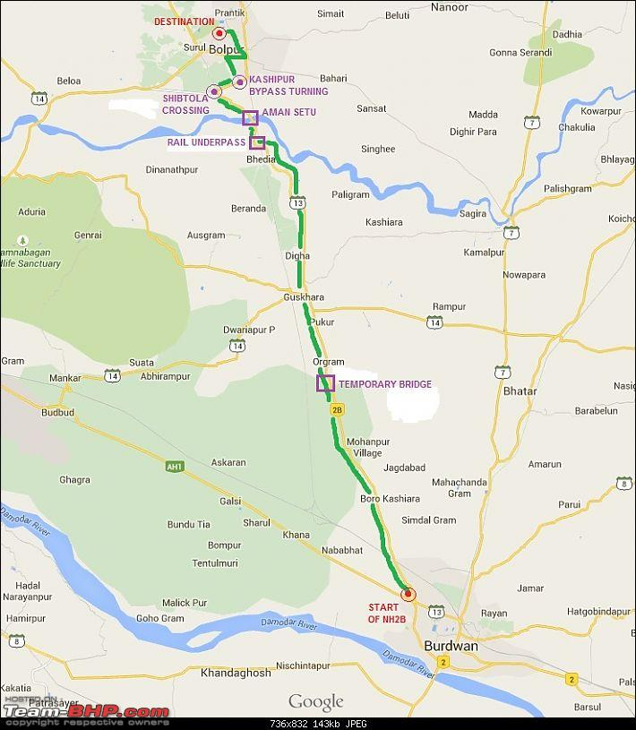Sunday Solo drive: Kolkata to Bolpur (Santiniketan) via NH2 / 2B-map-3.jpg