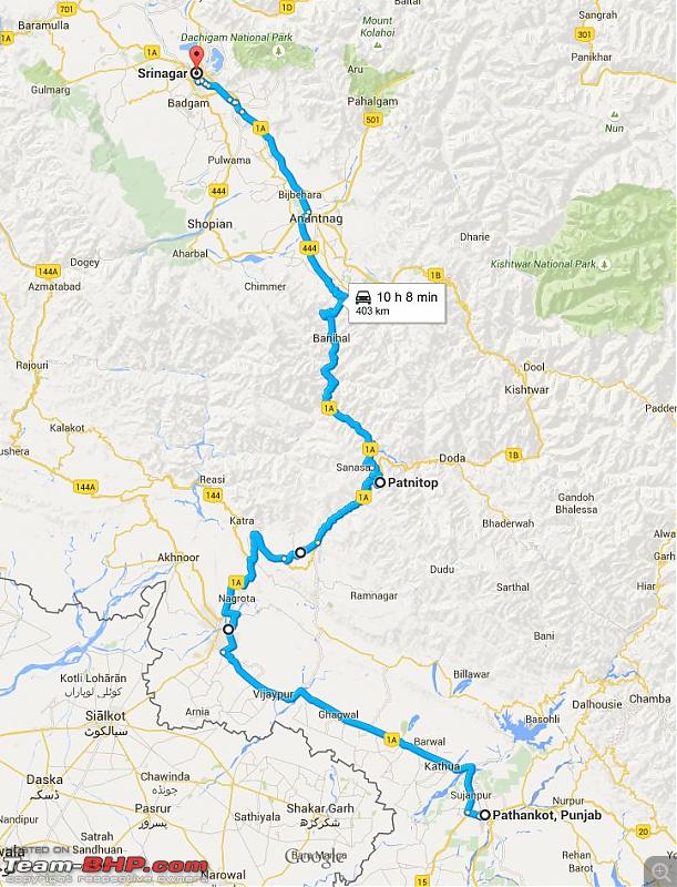 Polo GT TDI Chronicles: Ladakh and beyond! 5543 km, 13 days, 8 states, 2 souls & 1 car!-day-3-pathankot-srinagar.png