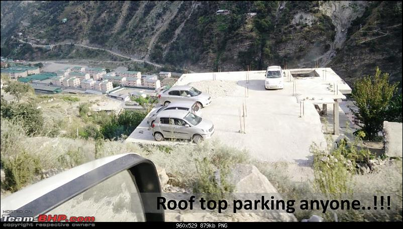 Report & Pics: The 2015 Himalayan Spiti Escape (Mahindra Adventure)-rooftop_parking.png