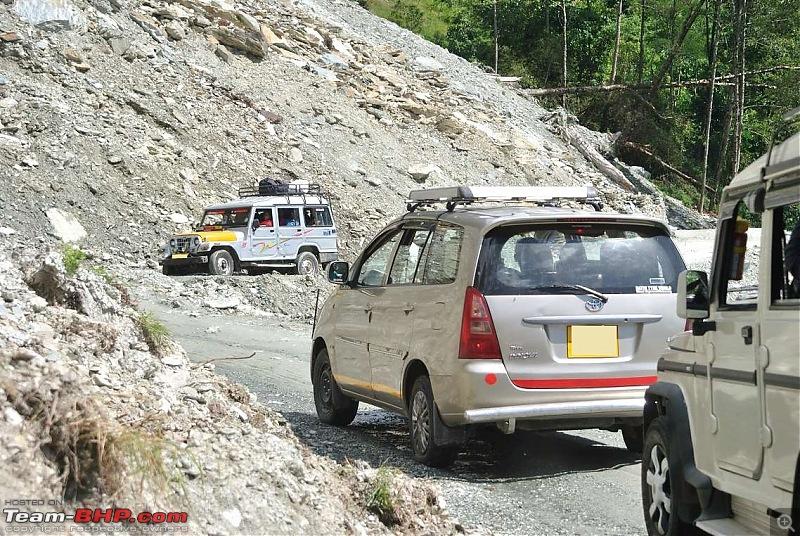 In the abode of the Himalayas - Hiking 4000 meters up to Dzongri-crossinglandslidearea.jpg