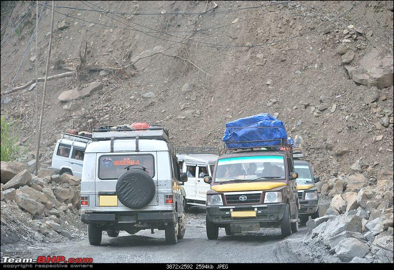 In the abode of the Himalayas - Hiking 4000 meters up to Dzongri-trickingcrossingofvehicles.jpg