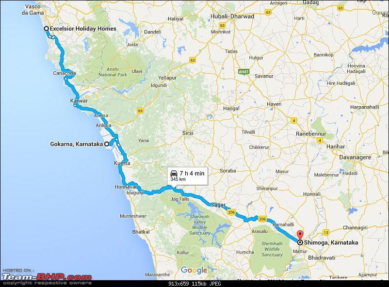 Go..Goa..Gone! Road trip from Bangalore -> Shimoga -> Goa-day6_route.jpg