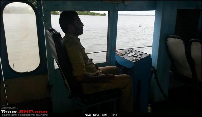 The route less travelled...Alappuzha to Kollam in a double-decker boat!-driver.jpg