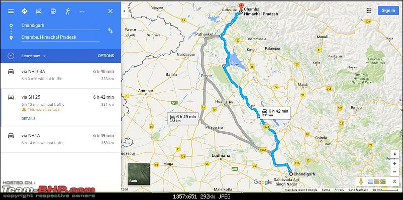 Over the Sach Pass in a sedan: A 'Dzire' fulfilled!-route-map.jpg