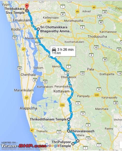 Name:  Day 9 Route Map  Chengannur to Thrikkakkara.jpg Views: 1931 Size:  144.9 KB