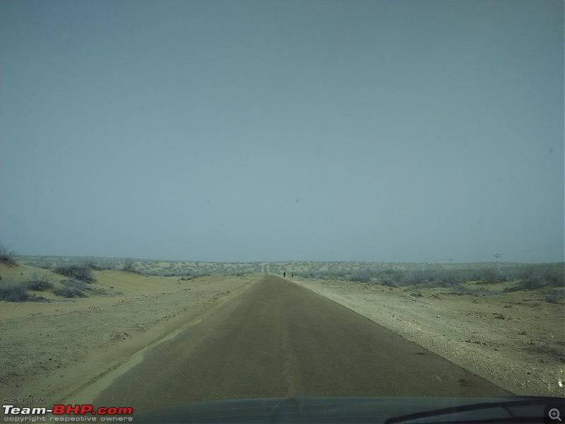 At the International Border - With an XUV500 to International Border Pillar No. 609-road-4.jpg