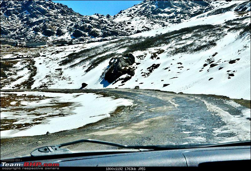 East Sikkim: Sailed through the Old Silk Route in hatchbacks, sedans and a Thar-snowy-road-1.jpg