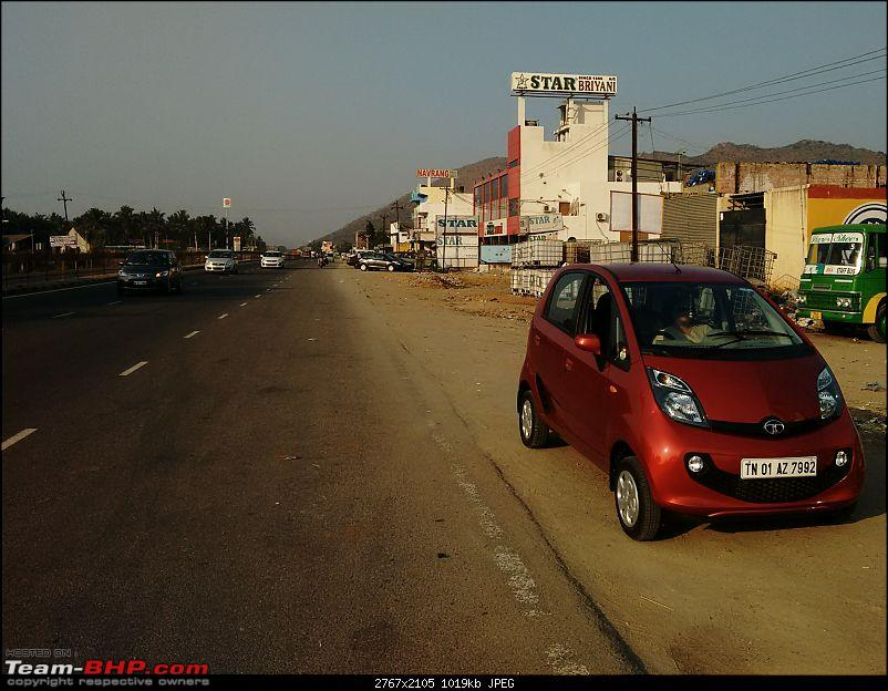 My journey from Bangalore to Kolkata in a Tata Nano, that too Alone-nano_ambur_parked_27316.jpg